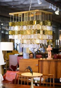 Murano Crystal and Brass Chandelier - 212779