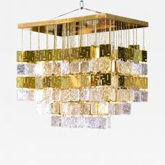 Murano Crystal and Brass Chandelier - 213034