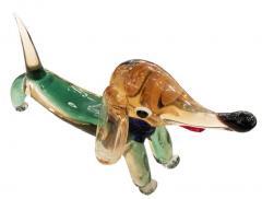 Murano Glass Dog Sculpture - 1001325