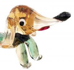 Murano Glass Dog Sculpture - 1001326