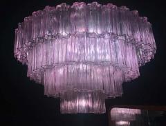 Murano Glass Pink Amethyst Tronchi Chandelier 1970 - 1764729