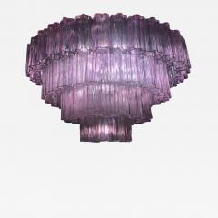 Murano Glass Pink Amethyst Tronchi Chandelier 1970 - 1765851