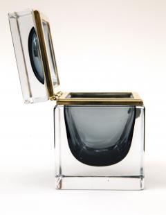 Murano Grey Square Sommerso Box - 1192036