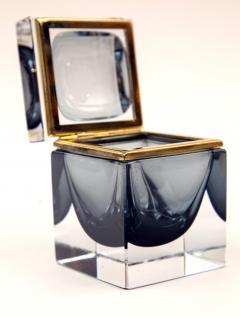 Murano Grey Square Sommerso Box - 1192038