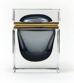 Murano Grey Square Sommerso Box - 1192039