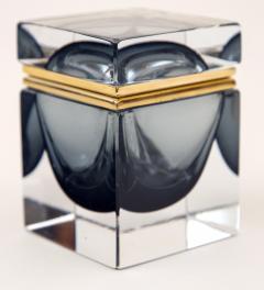 Murano Grey Square Sommerso Box - 1192041