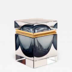 Murano Grey Square Sommerso Box - 1192284