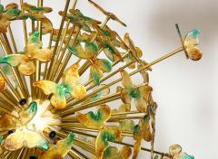 Murano Luxury Glass Murano Glass Butterfly Sputnik Chandelier - 756183