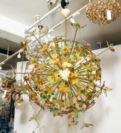 Murano Luxury Glass Murano Glass Butterfly Sputnik Chandelier - 756186