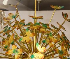 Murano Luxury Glass Murano Glass Butterfly Sputnik Chandelier - 756188