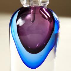 Murano blue and purple perfume bottle - 1964509