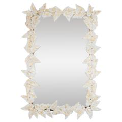Murano glass butterfly surround mirror - 1306573