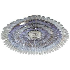 Murano glass feather flush mount ceiling fixture - 1306553