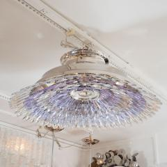 Murano glass feather flush mount ceiling fixture - 1306554