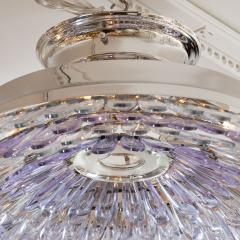 Murano glass feather flush mount ceiling fixture - 1306555