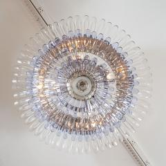 Murano glass feather flush mount ceiling fixture - 1306556