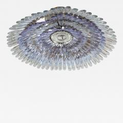 Murano glass feather flush mount ceiling fixture - 1309083