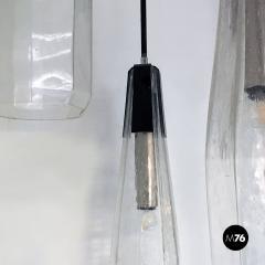 Murano glass three light chandelier 1970s - 2034917
