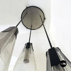 Murano glass three light chandelier 1970s - 2034957