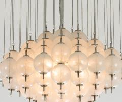 Murano pulegoso glass chandelier 1960s - 1912823