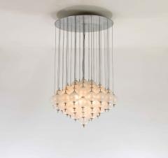 Murano pulegoso glass chandelier 1960s - 1913303