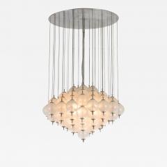 Murano pulegoso glass chandelier 1960s - 1914090