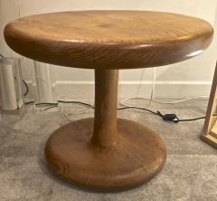 Mushroom shaped 50s rare oak coffee table - 1174985