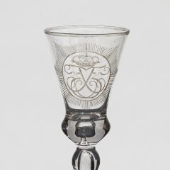 N STETANGEN CHRYSTAL DESERT GLASS WITH FREDERIK VS CROWNED MONOGRAM - 2135765