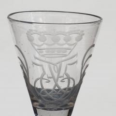 NORWEGIAN N STETANGEN GLASS ENGRAVED WITH CROWNED MONOGRAM FOR FREDERIK V - 2132700