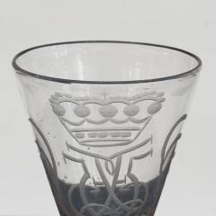 NORWEGIAN N STETANGEN GLASS ENGRAVED WITH CROWNED MONOGRAM FOR FREDERIK V - 2132703