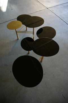 Nada Debs The Pebble Table In Brass And Black Lacquer By Contemporary  Designer Nada Debs
