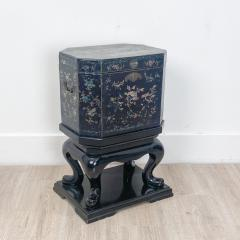 Nagasaki Shell Inlaid Lacquer Box on Later Stand Japan - 2067032