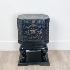 Nagasaki Shell Inlaid Lacquer Box on Later Stand Japan - 2067034