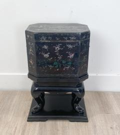 Nagasaki Shell Inlaid Lacquer Box on Later Stand Japan - 2067036