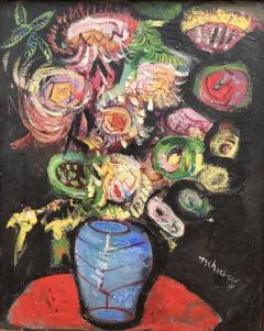 Nahum Tschacbasov Bouquet in Blue Vase  - 416937