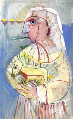 Nahum Tschacbasov Man with Dog  - 1866645