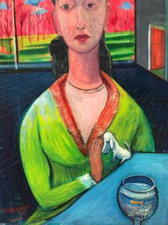 Nahum Tschacbasov Woman with Goldfish  - 1317981