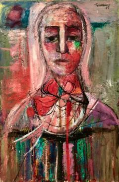 Nahum Tschacbasov Woman with Red Bow  - 799745