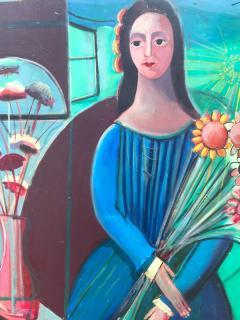 Nahum Tschacbasov Woman with Sunflowers  - 799607
