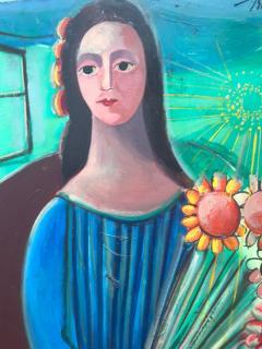 Nahum Tschacbasov Woman with Sunflowers  - 799672
