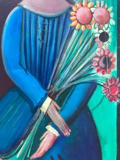 Nahum Tschacbasov Woman with Sunflowers  - 799679