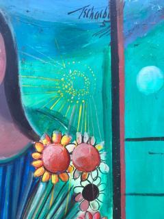Nahum Tschacbasov Woman with Sunflowers  - 799681