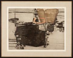 Najar Barsoumian Hratchaya Modern Black Abstract Engraving 10 60 - 1075854