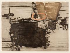Najar Barsoumian Hratchaya Modern Black Abstract Engraving 10 60 - 1075858