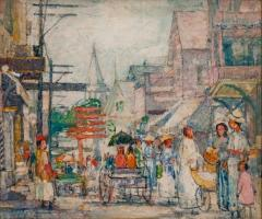 Nancy Maybin Ferguson Saturday Shoppers Provincetown  - 925994