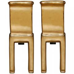 Nancy Ruben Pair of Scroll Cast Bronze Andirons - 74768
