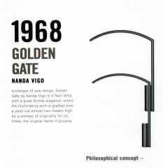 Nanda Vigo Nanda Vigo Golden Gate Floor Lamp for Arredoluce - 1224283