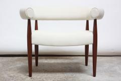 Nanna Dietzel Early Nanna and J rgen Ditzel Ring Chair in Suede and Teak - 717653