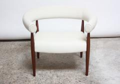 Nanna Dietzel Early Nanna and J rgen Ditzel Ring Chair in Suede and Teak - 717654