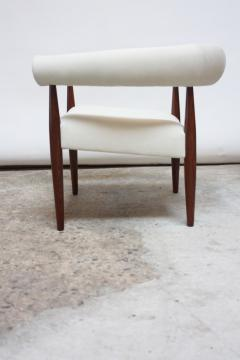 Nanna Dietzel Early Nanna and J rgen Ditzel Ring Chair in Suede and Teak - 717655